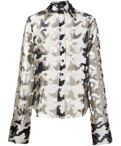 Marques Almeida   Marquesalmeida Oversized Fil Coupé Houndstooth Pattern Shirt Medium