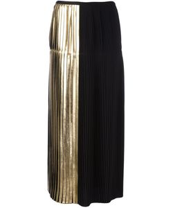 Stella Mccartney | Carmen Pleated Skirt 42 Polyester/Acetate/Viscose/Aluminium