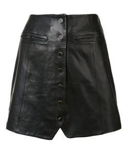 Rachel Zoe   Buttoned Skirt 2 Silk/Leather