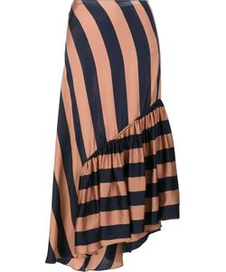 Stella Mccartney | Fluid Striped Skirt 40 Silk/Viscose