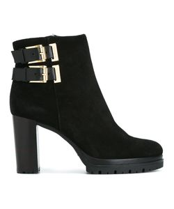 Baldinini | Buckled Boots 40 Leather/Calf Suede/Rubber