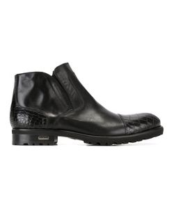 Baldinini | Side Zip Boots 42 Leather/Rubber