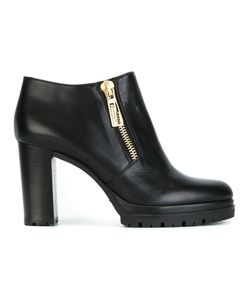 Baldinini | Zipped Boots 39.5 Calf Leather/Leather/Rubber