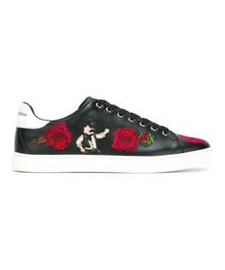 Dolce & Gabbana | Embroidered Flower Sneakers 42 Calf