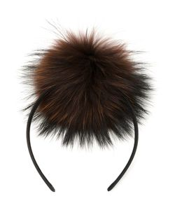 DRESS CAMP | Dresscamp Pom-Pom Headband Racoon Fur