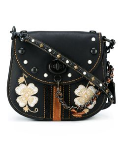 COACH | Embroidered Flower Crossbody Bag