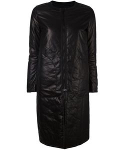 Ahirain | Leather Zip Coat Xs Lamb Skin/Polyamide/Polyester/Spandex/Elastane