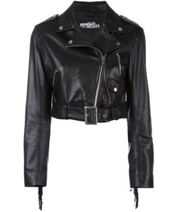 Jeremy Scott | Cropped Biker Jacket 44 Sheep Skin/Shearling/Polyester