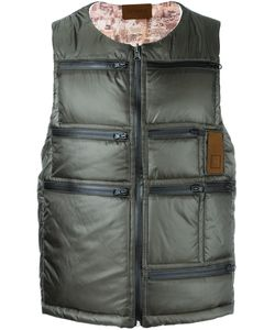 LETASCA | Quilted Zipped Vest Large Nylon