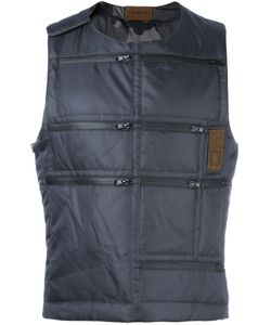 LETASCA | Quilted Zipped Vest Small Nylon