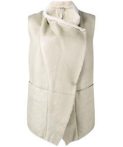Giorgio Brato | Wrap Detail Waistcoat 44 Sheep Skin/Shearling