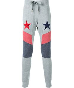 DRESS CAMP | Dresscamp Stars Embroidered Track Pants Adult Unisex Small Cotton