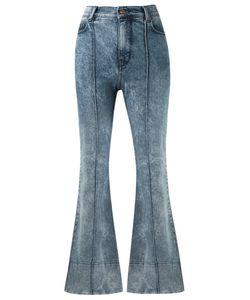 Amapô | High Waist Flared Trousers 38 Cotton/Elastodiene