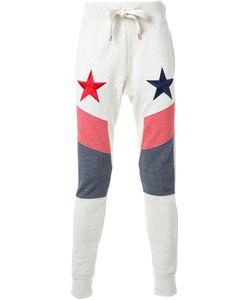 DRESS CAMP | Dresscamp Stars Embroidered Track Pants Adult Unisex Medium Cotton