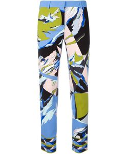 Emilio Pucci | Abstract Print Cropped Trousers 38 Silk/Spandex/Elastane/Viscose