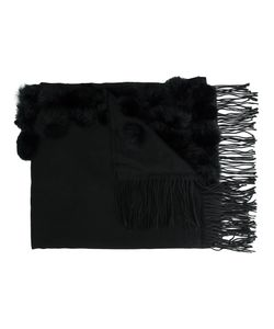 Dolce Cabo | Fringed Ends Scarf Cotton/Rabbit Fur