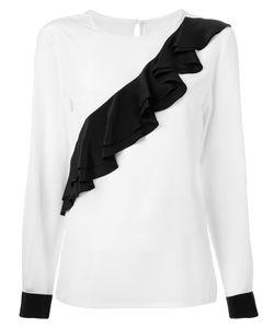 DRESS CAMP | Dresscamp Ruffled Detail Blouse 38 Silk