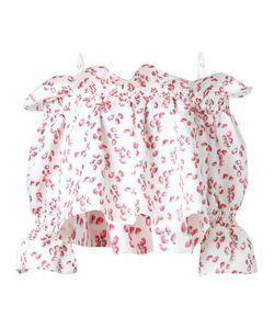 DRESS CAMP | Dresscamp Strawberry Print Off-Shoulder Blouse 36 Polyester