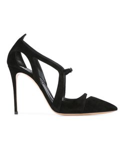 Casadei | Pointed Toe Pumps 37 Leather/Suede