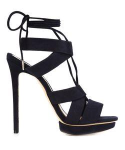 Monique Lhuillier | Max Platform Sandal 38 Leather/Suede