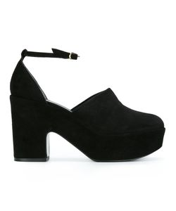 Robert Clergerie | Platform Chunky Pumps 37.5 Leather/Suede/Rubber