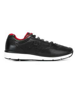 Hogan | Perforated Panel Lace Up Sneakers 7 Cotton/Leather/Rubber