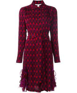 Diane Von Furstenberg | Printed Shirt Dress 8 Silk/Spandex/Elastane