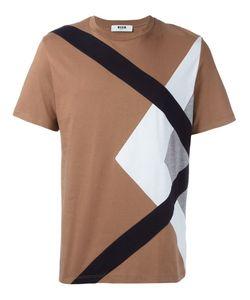 MSGM | Paneled T-Shirt Xs Cotton