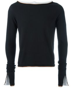 Telfar   Raw Edge Layered Sweatshirt Small Cotton