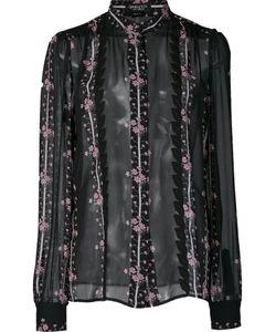 Giambattista Valli | Print Sheer Shirt 42 Silk