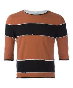 Telfar   Raw Edge Striped T-Shirt Small Cotton