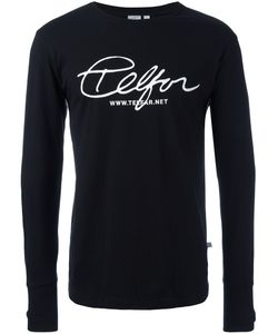 Telfar   Front Print Sweatshirt Medium Cotton
