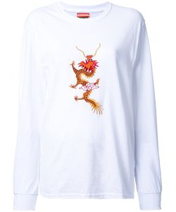 Growing Pains | Dragon Embroidered T-Shirt Small Cotton