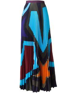 Mary Katrantzou | Pelar Starheart Pleated Skirt 12 Polyester/Viscose