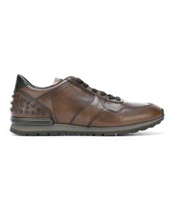 Tod'S | Studded Ankle Sneakers 41 Leather/Rubber