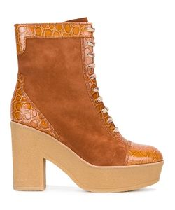 See By Chloe | See By Chloé Embossed Detail Boots 39 Leather/Suede/Rubber