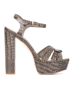 SCHUTZ | Snakeskin Effect Sandals 37 Leather