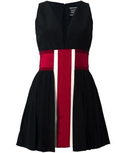 Fausto Puglisi | Striped V Neck Dress 42 Silk/Acetate/Viscose