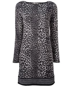 Michael Michael Kors | Leopard Print Fitted Dress Medium