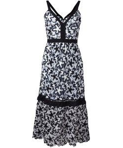 SELF-PORTRAIT | Line Dress 6 Silk/Cotton/Polyester
