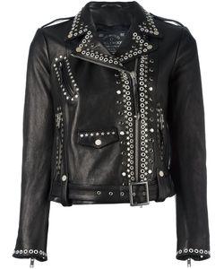 HTC Hollywood Trading Company | Studded Biker Jacket Large