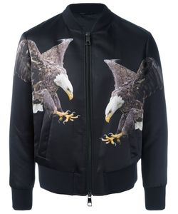 Neil Barrett | Eagle Print Bomber Jacket Large Cotton/Polyamide/Polyester/Viscose
