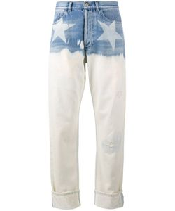 Faith Connexion | Star Print Wide-Leg Jeans 26 Cotton