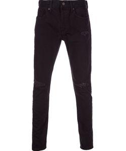 Monkey Time | Clash Skinny Jeans Large Cotton/Calf Leather/Polyurethane