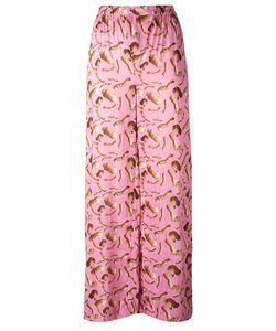 Giorgia Fiore | Doll Print Trousers 40 Cotton