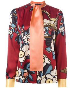 Dsquared2 | Cherry Blossom Collarless Print Shirt 42 Silk