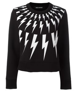 Neil Barrett | Lightning Bolt Sweatshirt Small Cotton/Polyurethane/Spandex/Elastane/Viscose