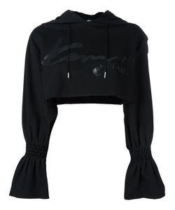 Kenzo | Signature Cropped Hoodie Small Polyamide/Spandex/Elastane/Viscose