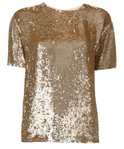 P.A.R.O.S.H. | Sequin Embellished T-Shirt Xs Viscose/Pvc