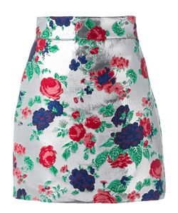 MSGM | Embroidered Skirt 44 Acrylic/Polyamide/Polyester Fibre